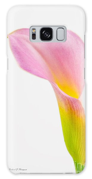 Colorful Calla Lily Flower Galaxy Case