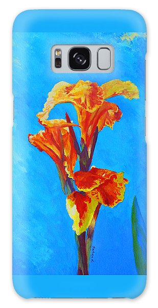 Colorful Canna Galaxy Case by Margaret Saheed