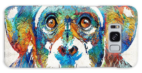 Colorful Chimp Art - Monkey Business - By Sharon Cummings Galaxy Case