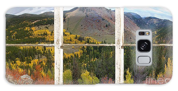 Colorful Colorado Rustic Window View Galaxy Case