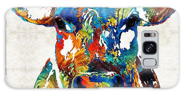Colorful Cow Art - Mootown - By Sharon Cummings Galaxy Case by Sharon Cummings