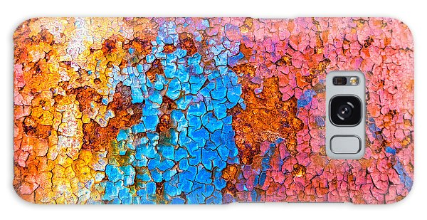 Colorful Cracks Galaxy Case