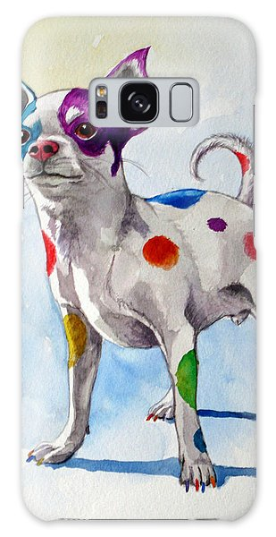 Colorful Dalmatian Chihuahua Galaxy Case