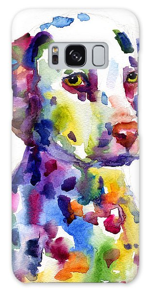 Colorful Dalmatian Puppy Dog Portrait Art Galaxy Case