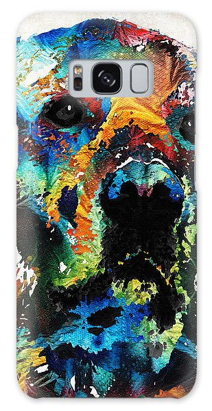 Colorful Dog Art - Heart And Soul - By Sharon Cummings Galaxy Case