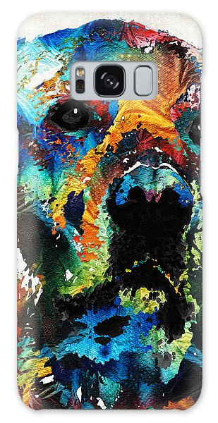 Chocolate Lab Galaxy Case - Colorful Dog Art - Heart And Soul - By Sharon Cummings by Sharon Cummings