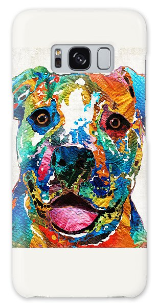 Bull Galaxy Case - Colorful Dog Pit Bull Art - Happy - By Sharon Cummings by Sharon Cummings