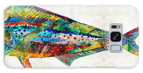 Colorful Dolphin Fish By Sharon Cummings Galaxy Case