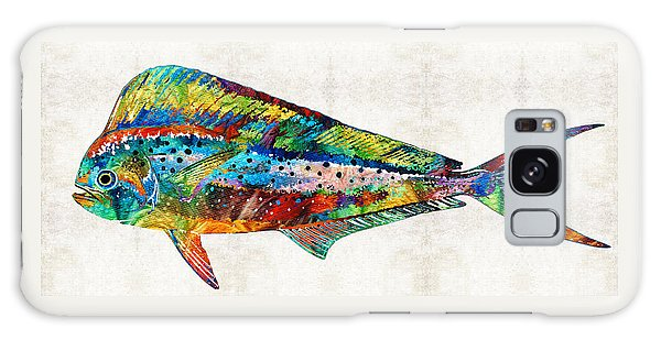 Dolphin Galaxy Case - Colorful Dolphin Fish By Sharon Cummings by Sharon Cummings