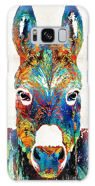 Colorful Donkey Art - Mr. Personality - By Sharon Cummings Galaxy Case by Sharon Cummings