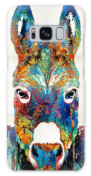 Country Living Galaxy Case - Colorful Donkey Art - Mr. Personality - By Sharon Cummings by Sharon Cummings