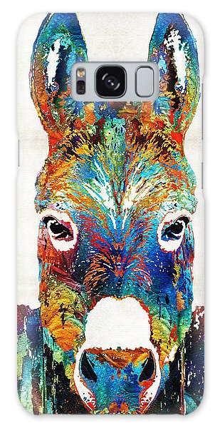Colorful Donkey Art - Mr. Personality - By Sharon Cummings Galaxy Case