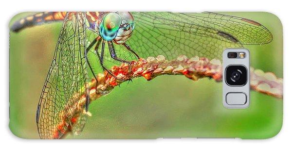Colorful Dragonfly Galaxy Case by Myrna Bradshaw