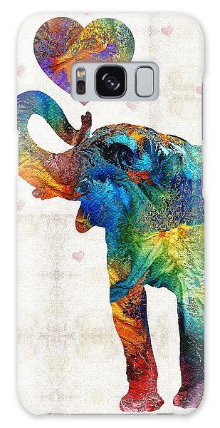 Colorful Elephant Art - Elovephant - By Sharon Cummings Galaxy Case