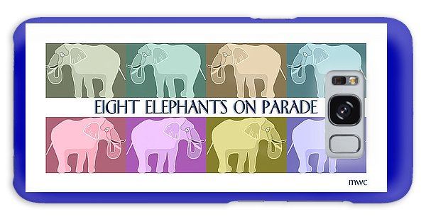 Pastel Elephants On Parade Galaxy Case