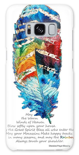 Feathers Galaxy Case - Colorful Feather Art - Cherokee Blessing - By Sharon Cummings by Sharon Cummings