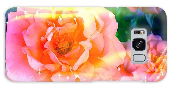 Pretty Pink Flowers Galaxy Case