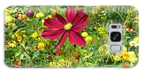 Colorful Flower Meadow With Great Red Blossom Galaxy Case