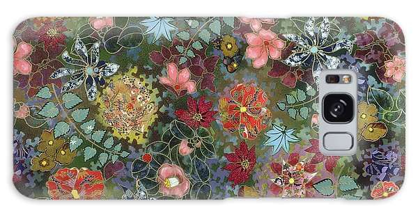 colorful flower painting - For July Galaxy Case