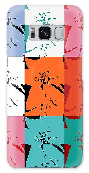 Colorful Flowers  Lily Galaxy Case