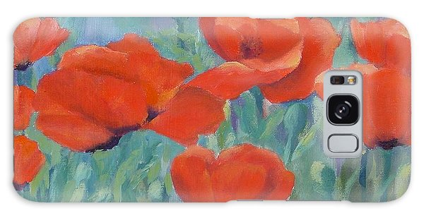 Colorful Flowers Red Poppies Beautiful Floral Art Galaxy Case