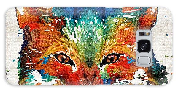 Colorful Fox Art - Foxi - By Sharon Cummings Galaxy Case