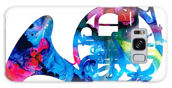 Colorful French Horn 2 - Cool Colors Abstract Art Sharon Cummings Galaxy Case by Sharon Cummings