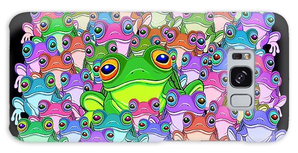 Colorful Froggy Family Galaxy Case