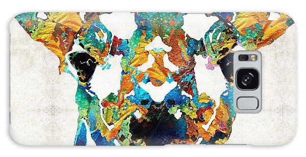 Colorful Giraffe Art - Curious - By Sharon Cummings Galaxy Case