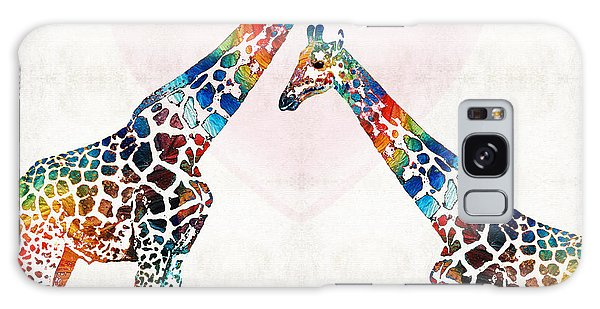 Colorful Giraffe Art - I've Got Your Back - By Sharon Cummings Galaxy Case