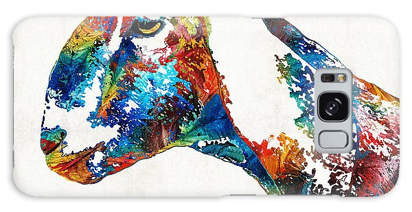 Colorful Goat Art By Sharon Cummings Galaxy Case