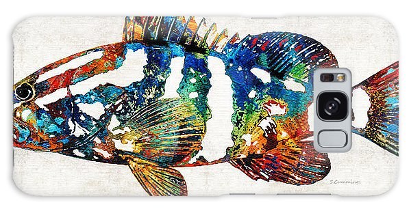 Scuba Diving Galaxy Case - Colorful Grouper 2 Art Fish By Sharon Cummings by Sharon Cummings