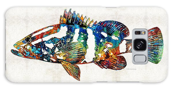 Colorful Grouper 2 Art Fish By Sharon Cummings Galaxy Case