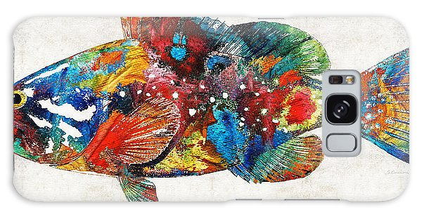 Scuba Diving Galaxy Case - Colorful Grouper Art Fish By Sharon Cummings by Sharon Cummings