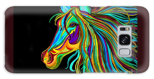 Colorful Horse Head 2 Galaxy Case by Nick Gustafson