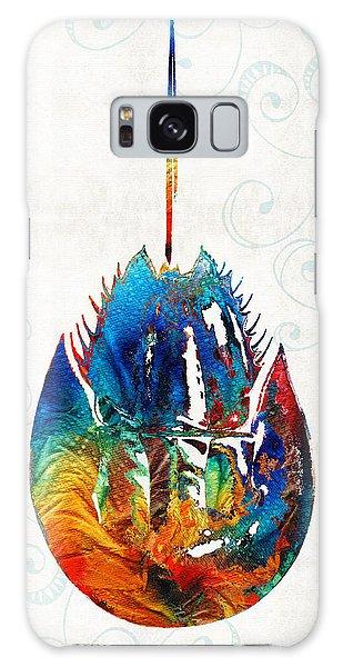 Bradenton Galaxy Case - Colorful Horseshoe Crab Art By Sharon Cummings by Sharon Cummings