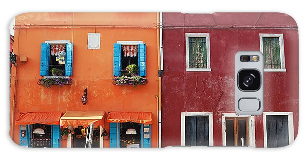 Colorful Houses Of Italy Galaxy Case