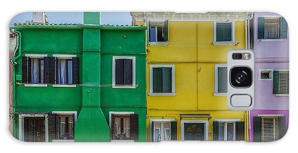 Colorful Houses With Bicycle Galaxy Case