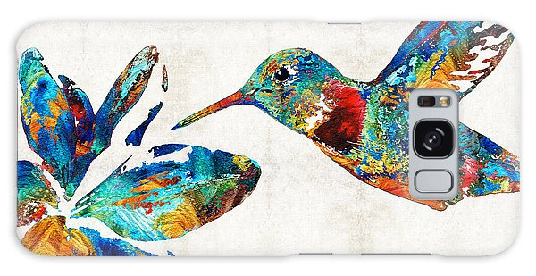 Colorful Hummingbird Art By Sharon Cummings Galaxy Case
