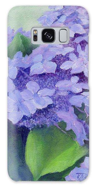 Colorful Hydrangeas Original Purple Floral Art Painting Garden Flower Floral Artist K. Joann Russell Galaxy Case