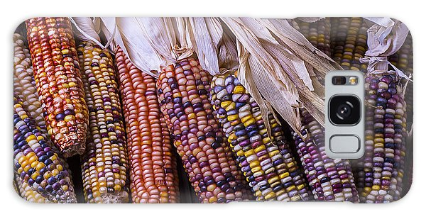 Indian Corn Galaxy Case - Colorful Indian Corn by Garry Gay