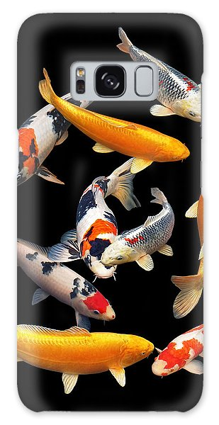Colorful Japanese Koi Vertical Galaxy Case