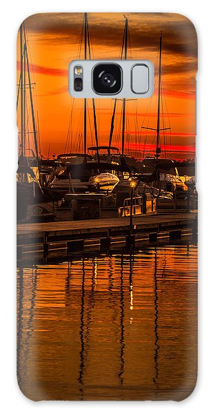 Colorful Lake Norman Sunset Galaxy Case