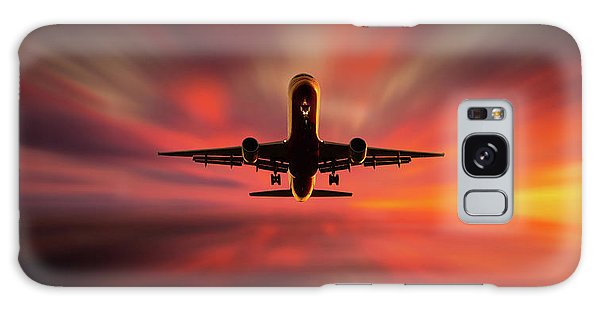 Airplanes Galaxy Case - Colorful Landing. by Leif L?ndal