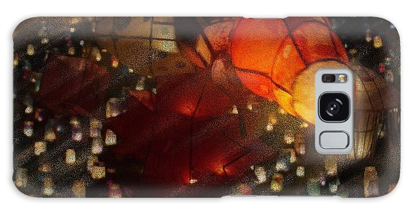 Colorful Lanterns Galaxy Case by Zinvolle Art