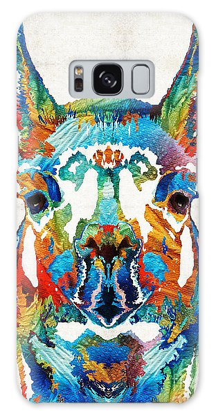 Colorful Llama Art - The Prince - By Sharon Cummings Galaxy Case