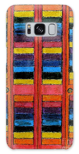 Colorful Louvre Doors Galaxy Case by Patricia Januszkiewicz