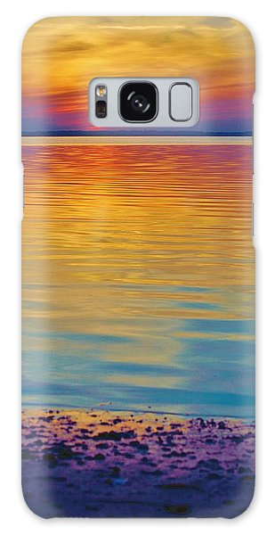 Colorful Lowtide Sunset Galaxy Case