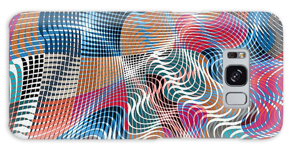 Bricks Galaxy Case - Colorful Modern Abstract Stained by Alex Landa