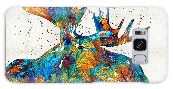 Colorful Moose Art - Confetti - By Sharon Cummings Galaxy Case